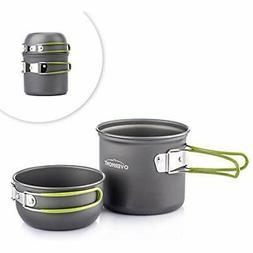 Portable Open Fire Cookware 1-2 Person Camping Pot Set FDA A