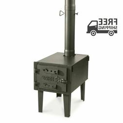 Portable Outdoor Camping Camp Cooking Warm Wood Vented Tent
