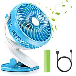 Portable Pedestal Fan,Citus Battery Operated Desk Clip-On Co