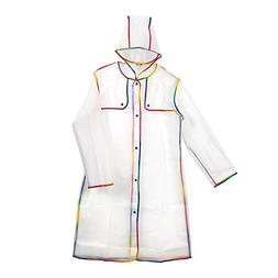 Adult Rain Poncho for Men and Women - Outdoor Waterproof Rai