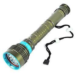 Dreamyth Practical Underwater 200m 20000LM 7x XM-L2 LED Scub