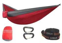 PREMIUM Camping Hammock COMPLETE KIT with FREE Straps and Ca