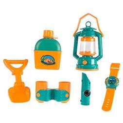 Pretend Play Camping Set with Lantern, Compass, Binoculars,