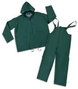Stansport PVC Rainsuit, Cloth Back, Green