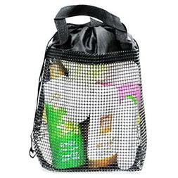 Quick Dry Mesh Shower Caddy, Shower Tote, Shower Bag, Black,