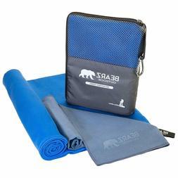 BEARZ Outdoor Quick Dry Microfiber Towel,2 Pack Camping Trav