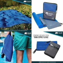 Quick Dry Microfiber Towel. 2 Pack Camping Travel Towel Hiki