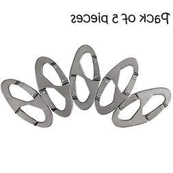 Ezyoutdoor 5 pieces Quick Link Aluminum Carabiner Snap Clip