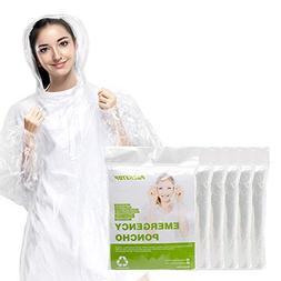 Packetop Rain Poncho, Disposable Emergency Raincoat for Men