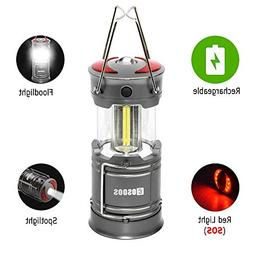 Rechargeable Camping Lantern Flashlight, COSOOS 2000mAh 1865