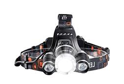 icefox Rechargeable Headlamp, Super Bright LED Head Torch, 6