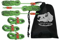 CHILL GORILLA 4mm 78' REFLECTIVE TENT GUIDE ROPE GUY LINE CO