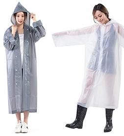 ShoppeWatch Reusable Rain Poncho Adults Plastic Raincoat Dra