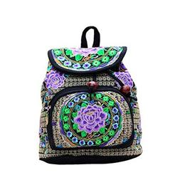 Schoolbags Backpack Shoulder Bag Ethnic Embroidery Bag Embro