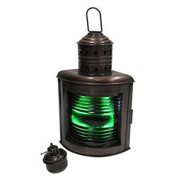 Armor Venue Large Ship Light, Green Starboard Oil Lamp Outdo