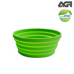 Ecoart Silicone Expandable Collapsible Bowl for Travel Campi