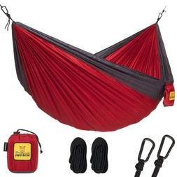 Wise Owl Outfitters Single 1-Person Camping Hammock Crimson