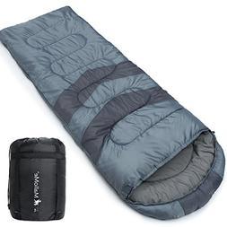 MalloMe Single Camping Sleeping Bag - 4 Season Warm Weather