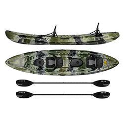 Vibe Kayaks Skipjack 120T | 12ft Tandem Kayak | 2 Person, Si