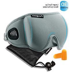 Sleep Mask for Men and Women,Adjustable 3D Contoured Sleepin