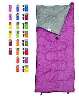 REVALCAMP Lightweight Violet/Purple Sleeping Bag by Indoor &