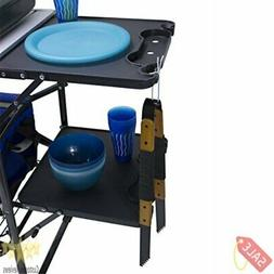 GCI Outdoor Slim-Fold Camp Kitchen Portable Folding Cook Sta