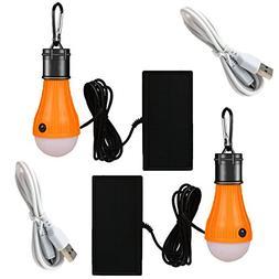 Viewpick 2 Pack Solar Powered LED Bulb Light Solar LED Lante