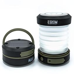 Solar Powered LED Camping Lantern: Rechargeable via Solar Pa