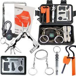 SOS Emergency Survival Equipment Kit Outdoor Gear Camping Hu