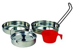 Texsport 5 pc Stainless Steel Camping Cookware Outdoor Mess