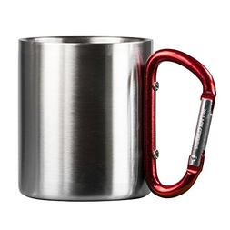 Life Gear Stainless Steel Double Walled Mug with Carabiner H