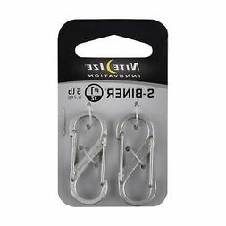 Nite-Ize Size 1 Steel S-Biners- 2 Pack Design: Stainless