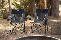 Coleman Steel Deck Chair Ultimate Comfort Sling Wide Outdoor