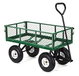 Gorilla Carts GOR400-COM Steel Garden Cart with Removable Si