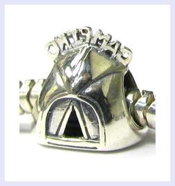 Sterling Silver Camping Picnic Tent Travel Camp Bead for Eur