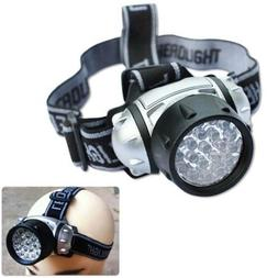 Strap On 21 LED Headlamp Head Lamp Hat Gear Flashlight Flash