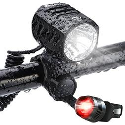 Super Bright Bike Light USB Rechargeable, Te-Rich 1200 Lumen