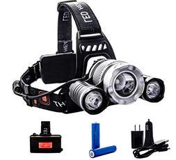 SUPER SALE - 3 LED Headlamp 6000 Lumen - Reliable LED Rechar