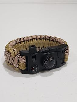 Peck and Paw Industries Survival Bracelet - Paracord/Fire St