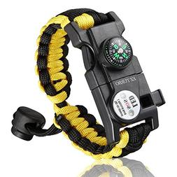 EZ Turbo Survival Bracelet, 20 in 1 Survival Paracord Brace
