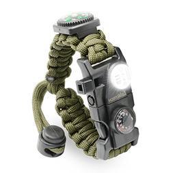 LeMotech Survival Bracelet, 21 in 1 Adjustable Survival Para