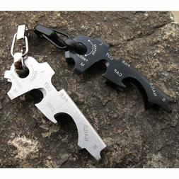 8-in-1 Stainless Steel Pocket Multi Tool Keychain Outdoor Ca