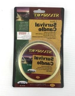 Stansport Survival Candle 3 Wick Emergency Gear Light Suppli