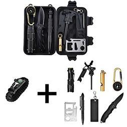 Catwalk Survival Gear Kit with Emergency Bracelet, 11 in 1 O
