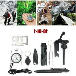 survival gear kits 10 in 1 outdoor