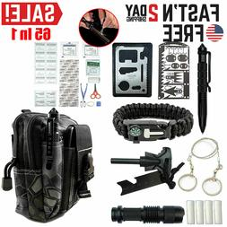 Survival Kit 65 in 1 Outdoor Camping Emergency Tactical Back