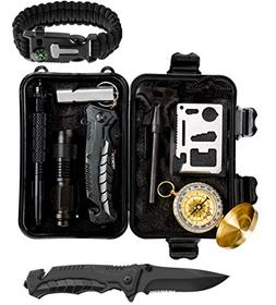 Survival Gear Emergency Kit – Essential Survival Kit w/Com