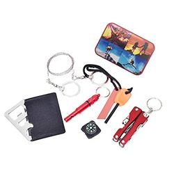 Inkach Survival Kit, SOS Help Outdoor Sport Camping Hiking S