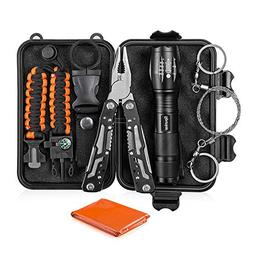 Survival Kit - Survival Gear with Multitool, Tactical Flashl