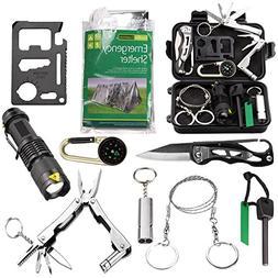 EMDMAK Survival Kit Outdoor Emergency Gear Kit with Emergenc